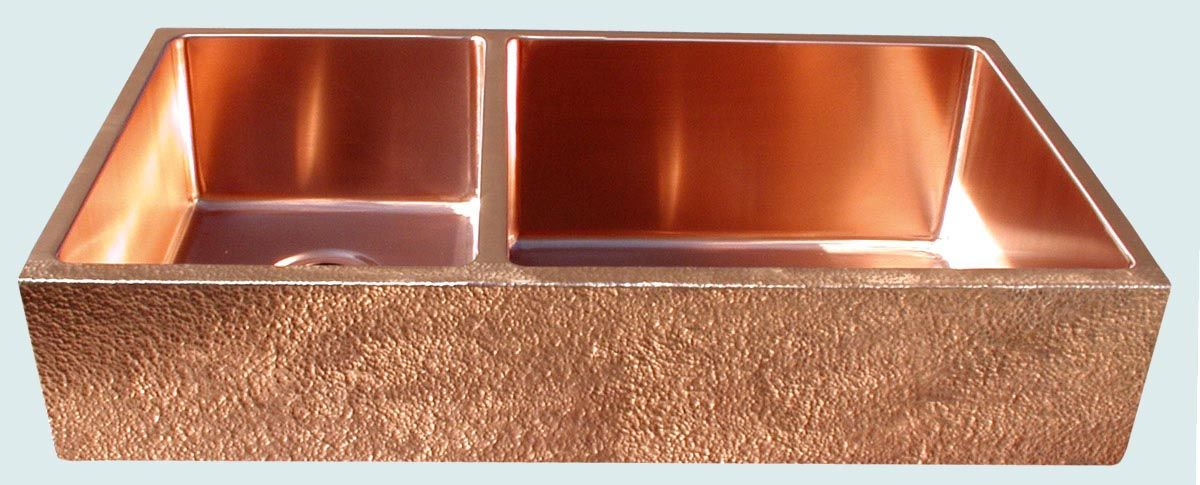 custom made kitchen sinks crafted copper sink with random hammering amp semigloss 6401
