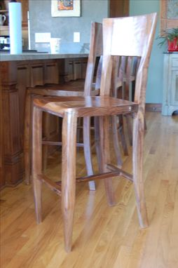 Custom Made Black Walnut Barstool