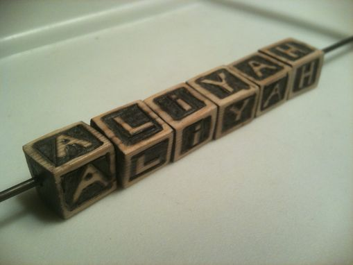 Custom Made Custom Wooden Baby Blocks Beads Or Jewelry