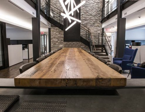 Custom Made Reclaimed Chestnut Conference Table