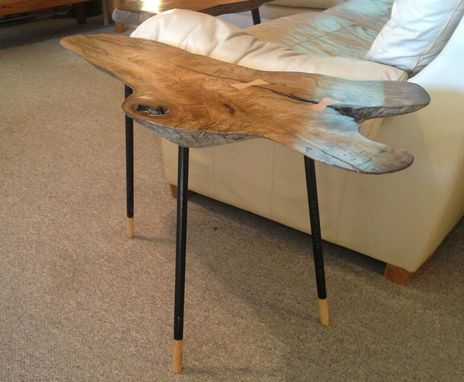 Custom Made Butternut Driftwood Slab Coffee And Side Tables