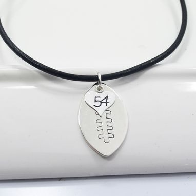 Custom Made Football Necklace Personalized With Number For Football Mom