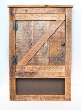 Custom Made Barn Wood Toilet Cabinet Rustic Cabinet 1800s Reclaimed Barn Wood