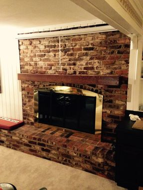 Custom Made White Oak Floating Mantle