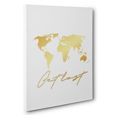Custom Made Get Lost Canvas Wall Art