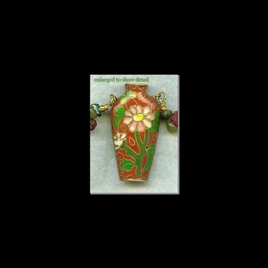 Custom Made Cloisonné Snuff Bottle Necklace