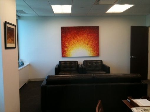 "Custom Made Original Abstract Red Sunrise Sunset 4ft X 5ft Painting By Artist Dan Lafferty - 48""X60"" - 22% Off"