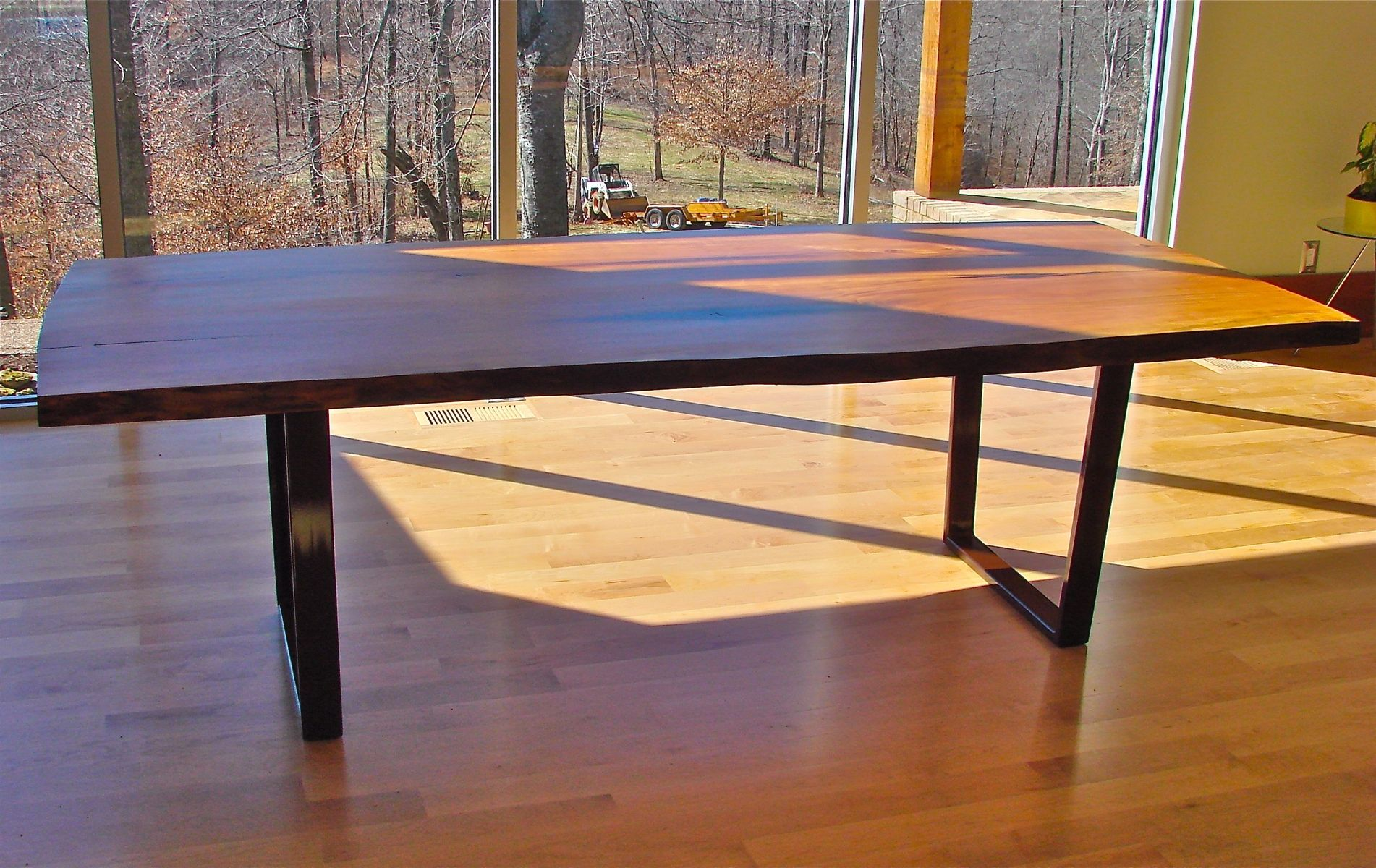 Hand Made Ali S New Cherry Slab Dining Table With Cold