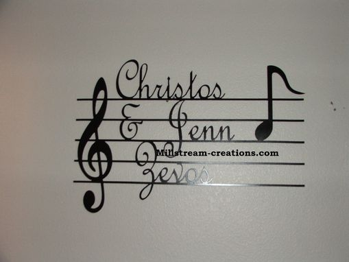 Custom Made Music Notes And Names Sign