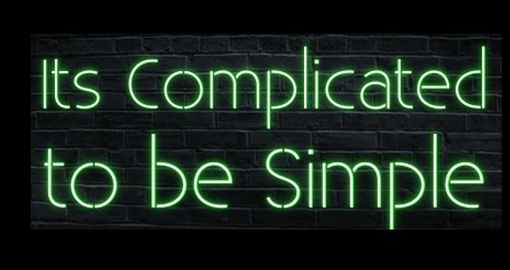 Custom Made Its Complicated To Be Simple Neon Sign