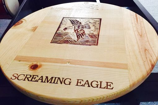 Custom Made Screaming Eagle Lazy Susan 20 Inches With Bearinghand Made Original Wine Panel