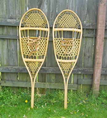 Custom Made Handmade Wooden Snowshoes