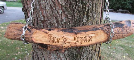 Custom Made Bar's Open Home Bar Sign