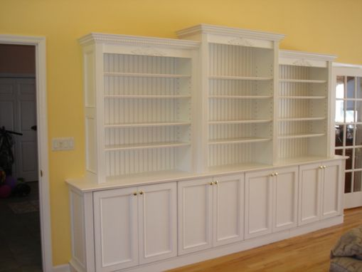 Custom Made Built In Wall Unit In White Finish