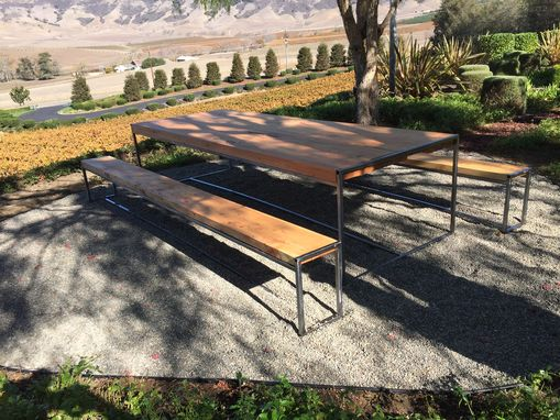 Custom Made Cypress Slab Winery Table