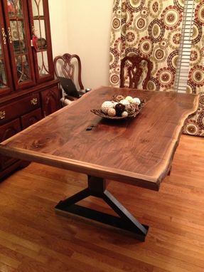 hand made live edge dining room table by southern wood