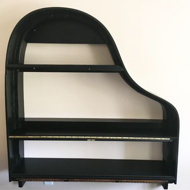 Custom Made Piano Shelving With Round Table