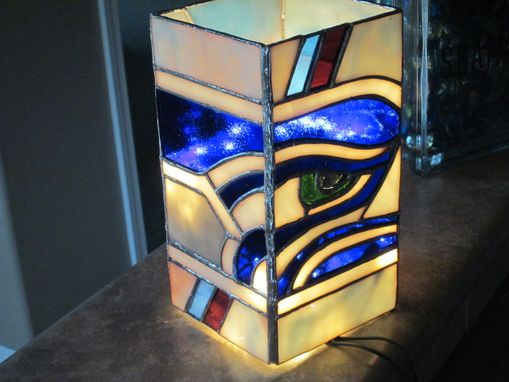 Custom Made Seahawks Lighted Vase