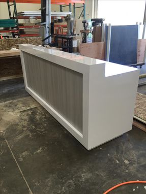 Custom Made #45 Tri Tech High Gloss Reception Counter