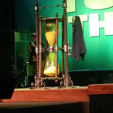 Custom Made Hand Forged Giant Hourglass