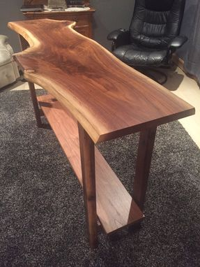 Custom Made Custom Walnut Live-Edge Hall Or Console Table