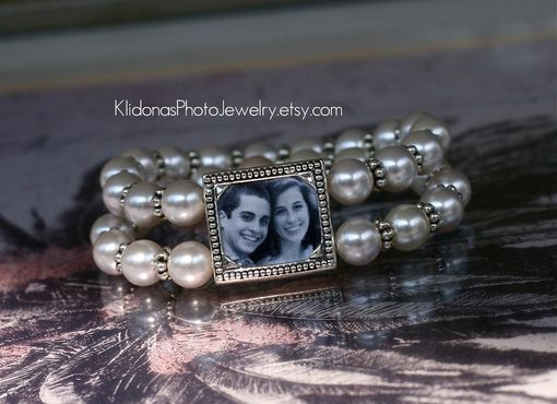 Custom Made Wedding Bracelet, Mother Of The Bride, Photo Bracelet, Bridal Bracelet