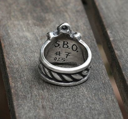 Custom Made Anchor Ring In Sterling Silver