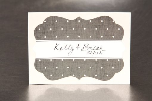 Custom Made Custom Wedding Stickers Die Cut - Dots And Texture - Guest Bag Labels