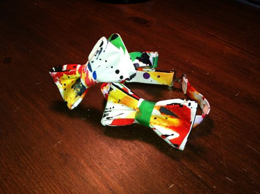 Custom Made Paint Splatter Boys Bow Tie
