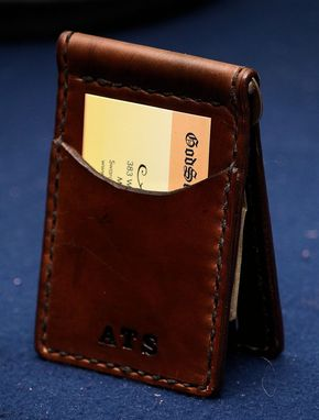Custom Made Custom Slim Front Pocket Leather Wallets