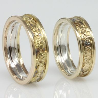 Custom Made 18k Gold, 14k Gold, And Sterling Silver Fused Ring