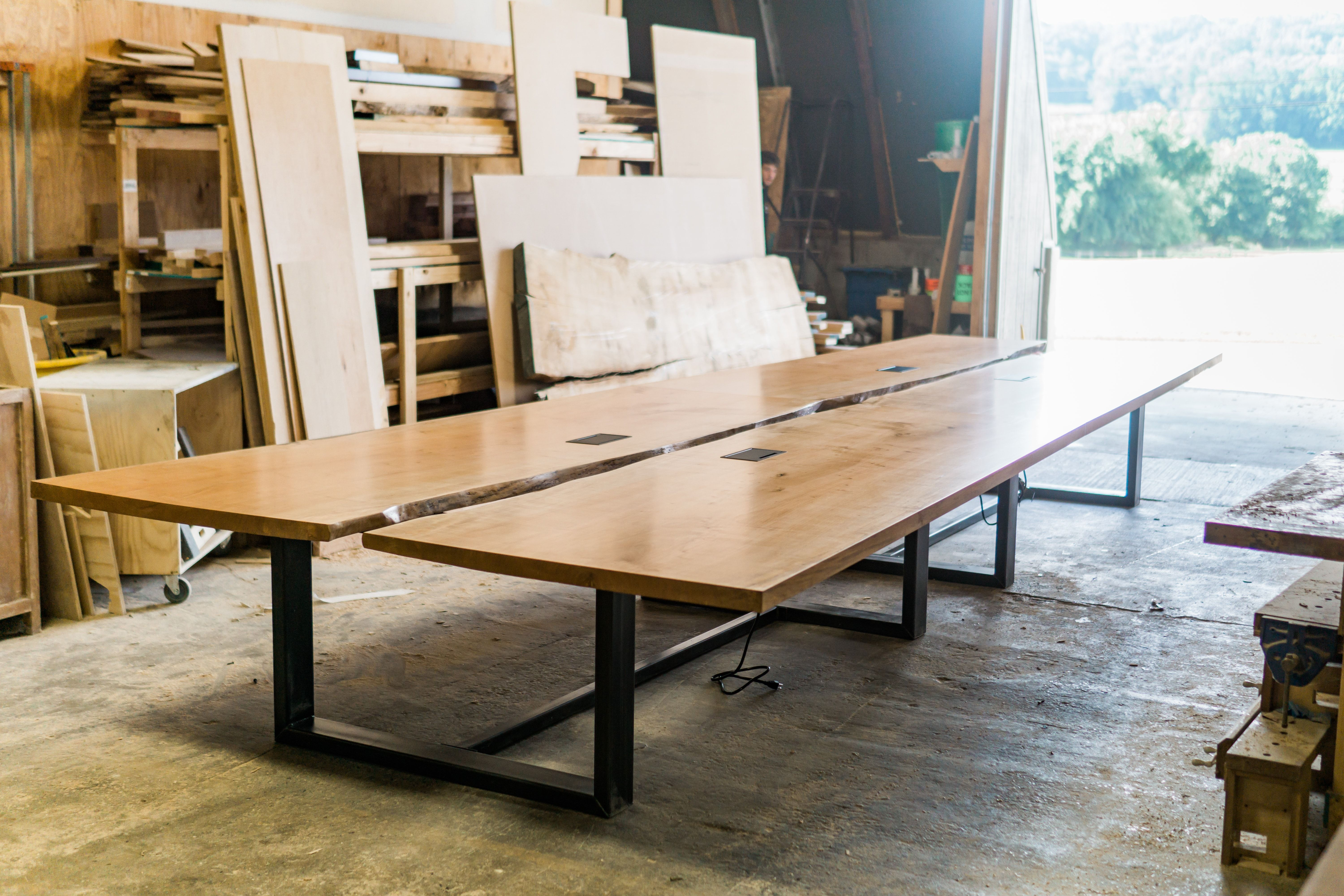Hand Made Solid Wood Conference Table By Greg Pilotti