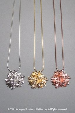 Custom Made Whirls Collection - No. 4 Pendant And Necklace - Plated In 14k Gold, Rose Gold Or White Gold