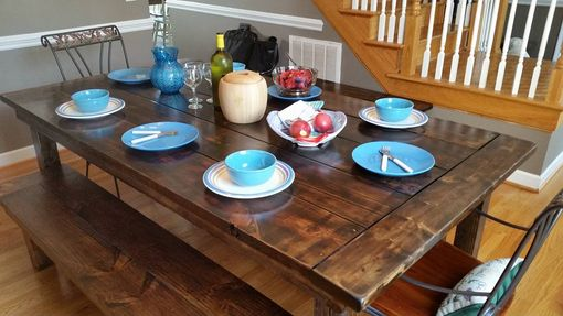 Custom Made Colonial Farmhouse Dining Table