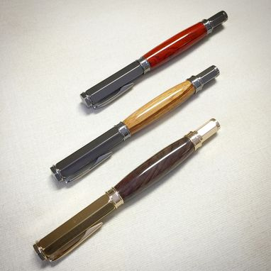Custom Made Handmade Wooden Rollerball Pen With Magnetic Cap