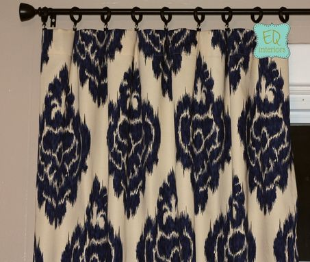 "Custom Made Barbados Ikat In Citron Gray Grey Yellow Linen Custom Curtains 90""L X 50""W"