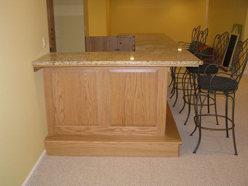Custom Made Finished Basement And Bar Morris County, Nj