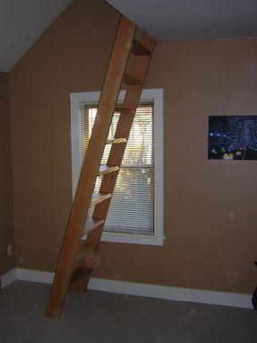 hand  loft ladder  railing  wooden hammer llc custommadecom