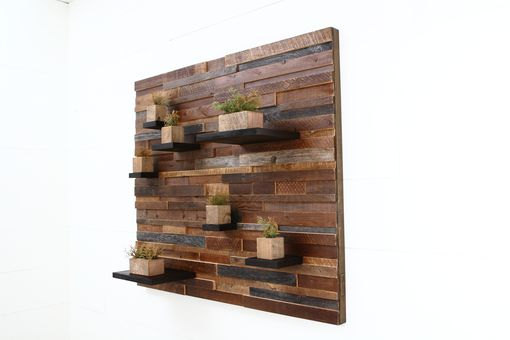 Custom Made Floating Shelf Artwork Made Of Old Reclaimed Barn Wood. 42
