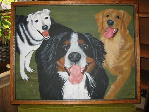Custom Made Pet Protraits - Taffy, Buddy & Tucker - In Memory Of Them All