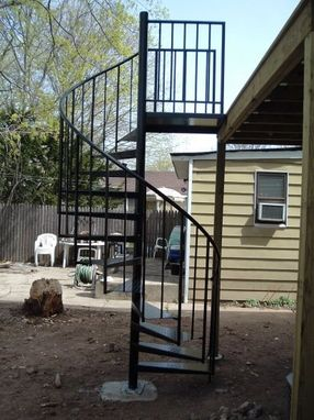 Custom Made Exterior Spiral Staircase & Installation Included