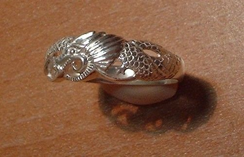 Custom Made Sterling Dragon Ring