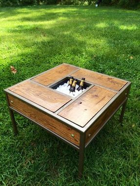 Custom Made Patio Table With Built In Beer/Wine Trough