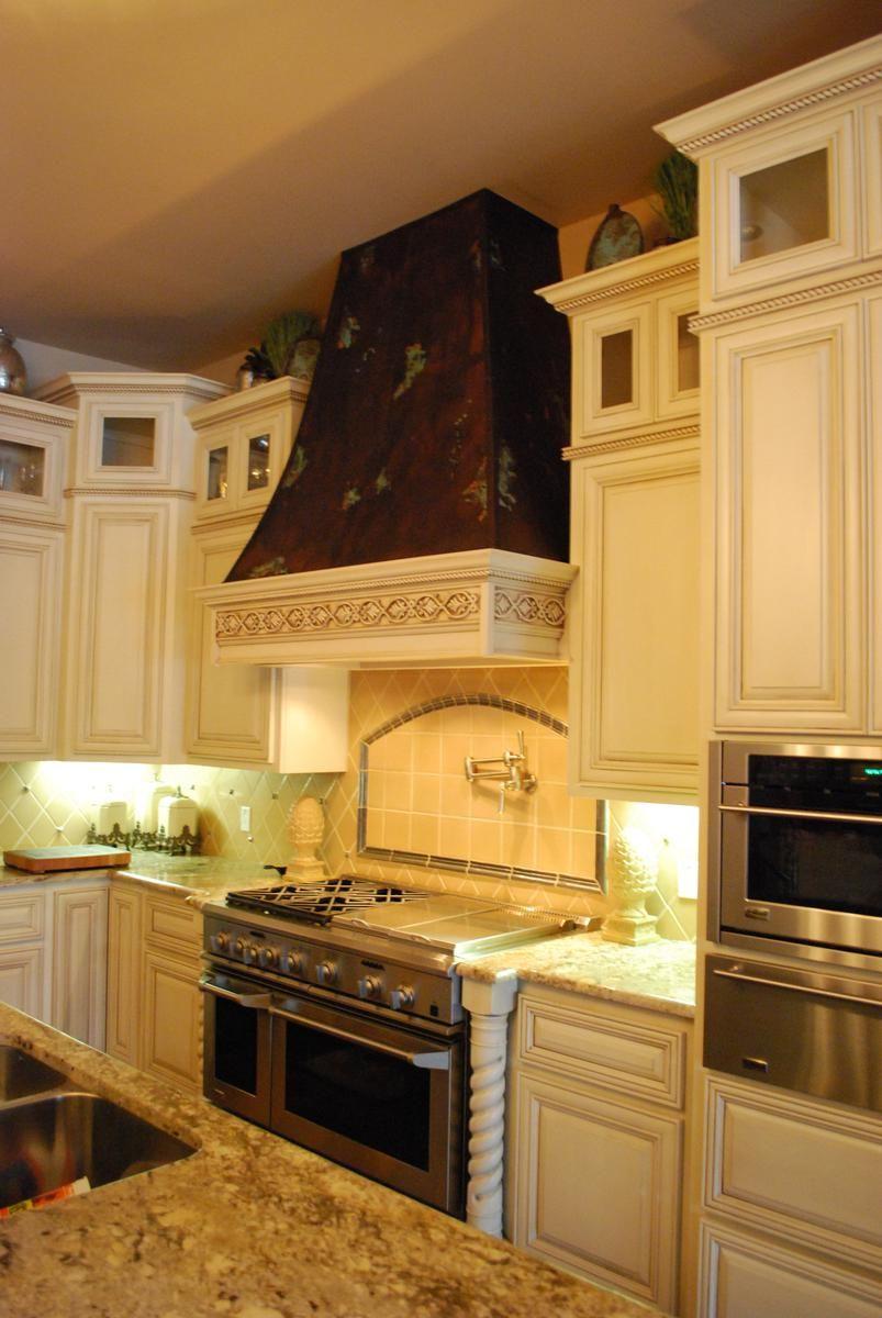 Custom Copper Range Hood And Frieze by Ck Valenti Designs, Inc ...