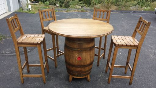 Custom Made Tavern Table And Stools
