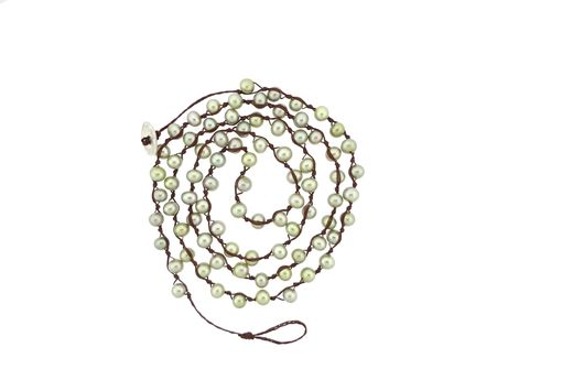 Custom Made Mini Pearl Rope Green