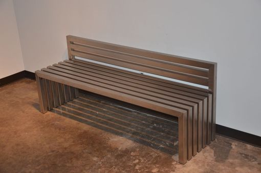Custom Made Stainless Steel Bench