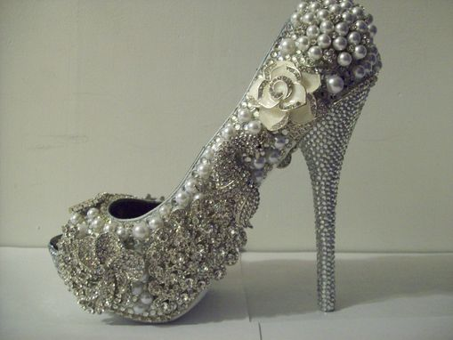 Custom Made Rhinestone/Pearl Wedding Heels