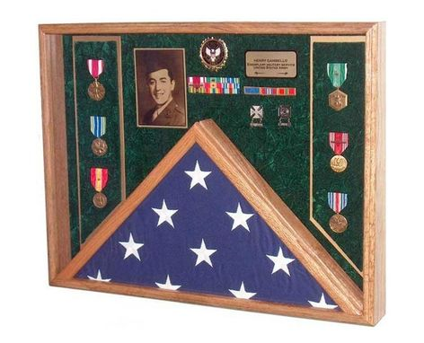 Custom Made Awards Flag Display Case