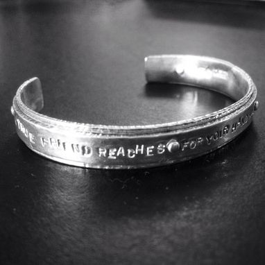 Custom Made Custom Stamped Silver Cuff